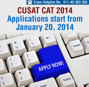 CUSAT CAT 2014 Applications start from January 20, 2014