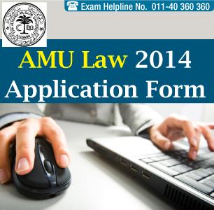 AMU Law Entrance 2014 Application Form