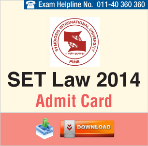 SET Law 2014 Admit Card