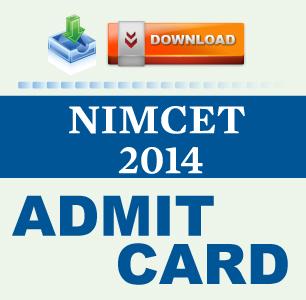 NIMCET 2014 Admit Card