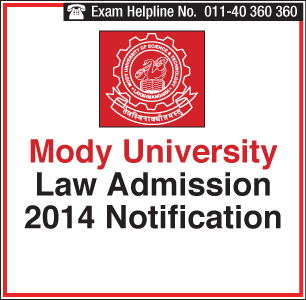 Mody University Law Admission 2014 has started