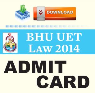 BHU LLB Entrance Exam 2014 Admit Card