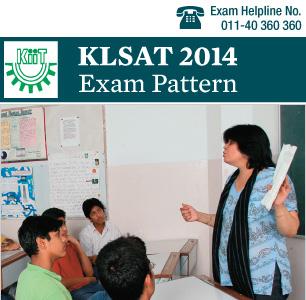 KLSAT 2014 Exam Pattern