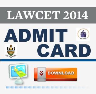 LAWCET 2014 Hall Ticket
