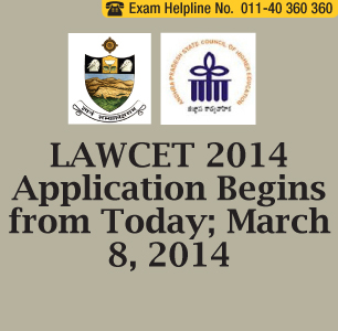 LAWCET 2014 Application Form begins from today; March 8, 2014