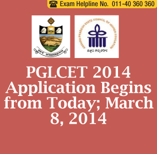 PGLCET 2014 Application Form begins from today; March 8, 2014