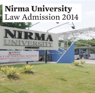 Nirma University Law Application Form 2014