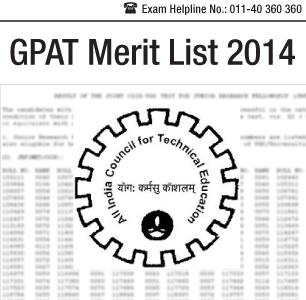 GPAT 2014 Merit List