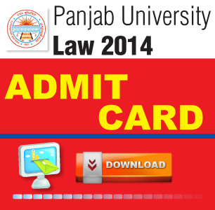 Panjab University LLB Entrance Exam 2014 Admit Card