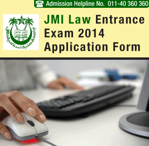 JMI Law Entrance Exam 2014 Application Form