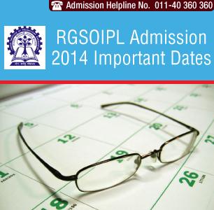 RGSOIPL LLB Exam 2014 Important Dates