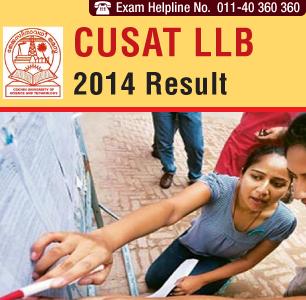 CUSAT LLB Entrance 2014 Result