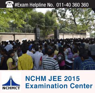 NCHM JEE 2015 Examination Centers