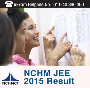 NCHM JEE 2015 Result