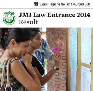 JMI Law Entrance 2014 Result