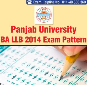 Panjab University BA LLB Entrance Exam 2014 Pattern