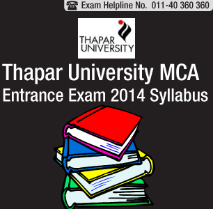Thapar University MCA Entrance Exam 2014 Syllabus