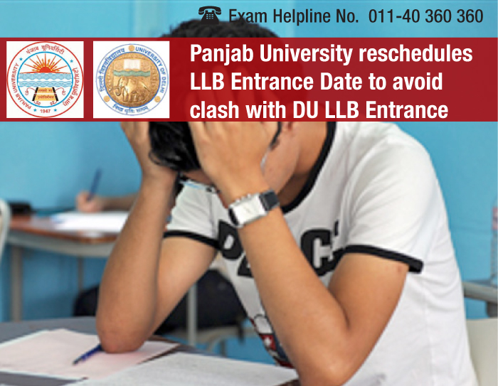 Panjab University reschedules LLB Entrance Date to avoid clash with DU LLB Entrance