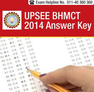 UPSEE BHMCT 2014 Answer Key