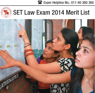 SET Law 2014 Merit List