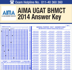 AIMA UGAT BHM 2014 Answer Key