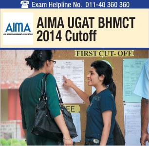 AIMA UGAT BHM 2014 Cutoff