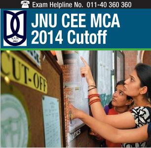 JNU CEE MCA 2014 Cutoff