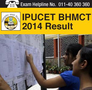 IPU CET BHMCT 2014 Result