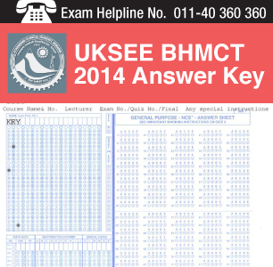 UKSEE BHMCT 2014 Answer Key