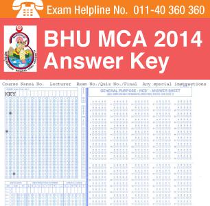 BHU MCA 2014 Answer Key