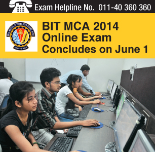 BIT MCA 2014: Online exam concludes on June 1