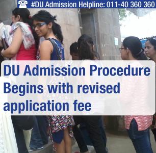 DU admission procedure begins with revised application fee