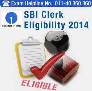 SBI Clerk 2014 Eligibility