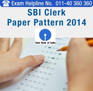 SBI Clerk 2014 Paper Pattern
