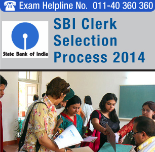 SBI Clerk 2014 Selection Process