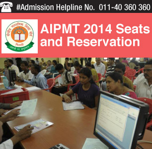 AIPMT 2014 Seats and Reservation