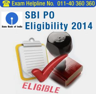 SBI PO 2014 Eligibility