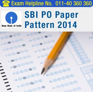 SBI PO 2014 Paper Pattern