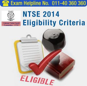 NTSE 2015 Eligibility Criteria