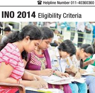 INO 2014 Eligibility Criteria