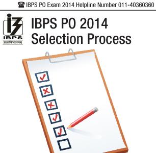 IBPS PO 2014 Selection Process