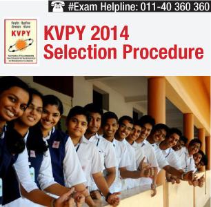 KVPY 2014 Selection Procedure