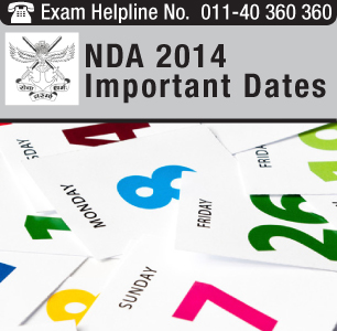 NDA II 2014 Important Dates