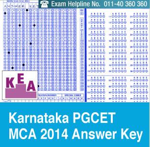 Karnataka PGCET MCA 2014 Answer Key