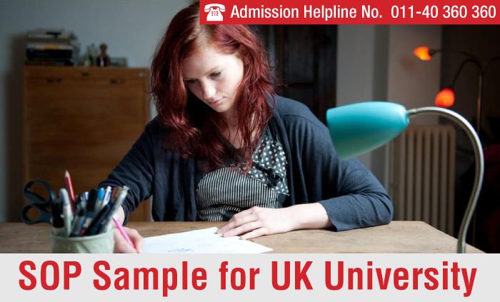 Sop Sample For Uk University