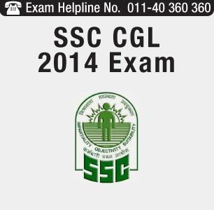 SSC CGL 2014 Exam
