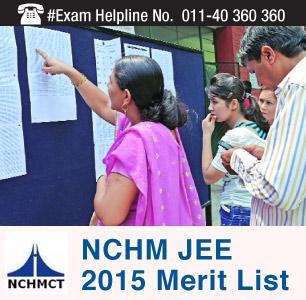 NCHM JEE 2015 Merit List