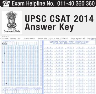 UPSC CSAT 2014 Answer Key