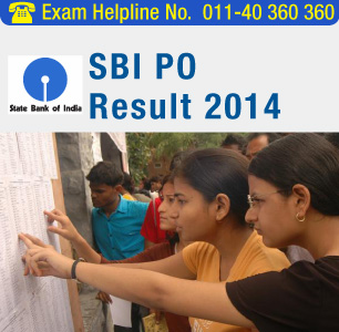 SBI PO 2014 Result declared
