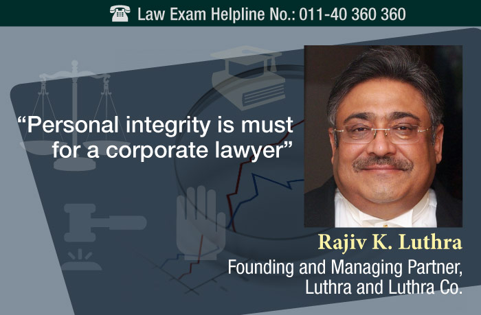 'Personal integrity is must for a corporate lawyer'
